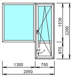 Цены на типовые конструкции пластиковых окон - нп-пласт.